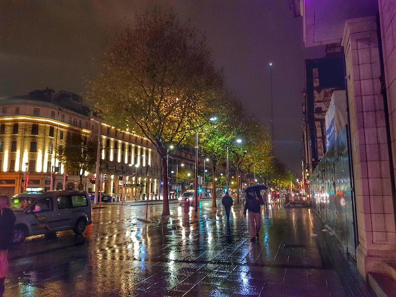 Passeios à noite em Dublin: Rua O'Connell
